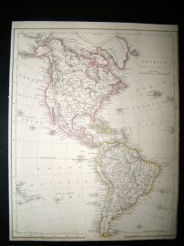 America: C1840 Antique Map, Becker